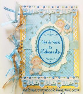 caderno de assinaturas scrapbook, caderno de assinatura cha de bebe