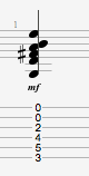 Gmajor 13 guitar chord