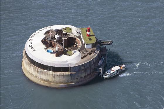 Spitbank Fort Hotel aus der Luft