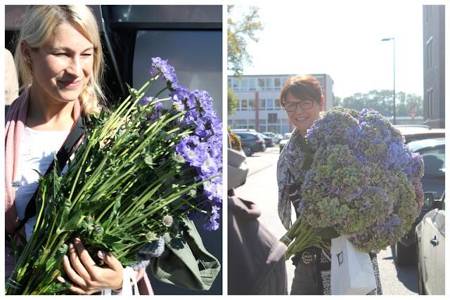 Blumentraeger Vanessa und Bine