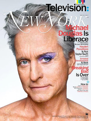 Michael Douglas as Liberace stars this new cover New York Magazine