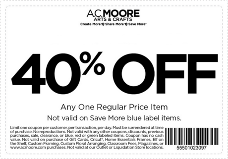 AC Moore Printable Coupons January 2016