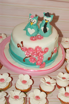 Owl Bride and Groom Topper Wedding cake