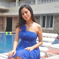 Sada latest images in blue dress