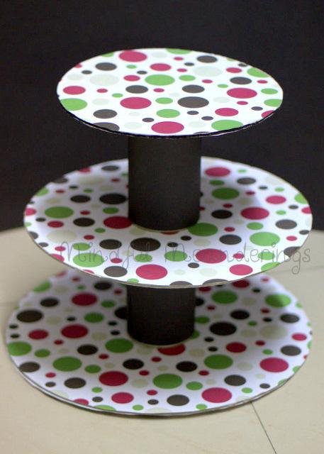 3tier cupcake stand DIY