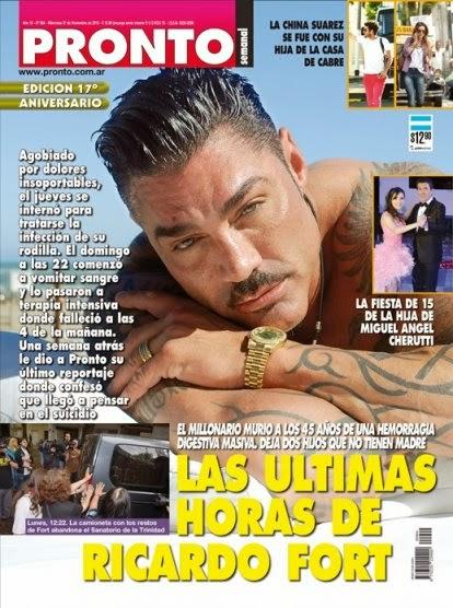 La muerte de Fort, tapa de las revistas 0001372247