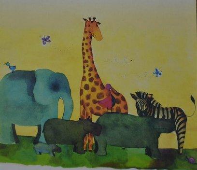 Детские рисунки на тему волшебный лес