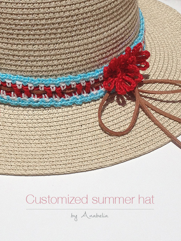 DIY: How to customize your summer hat with crochet, free pattern ...