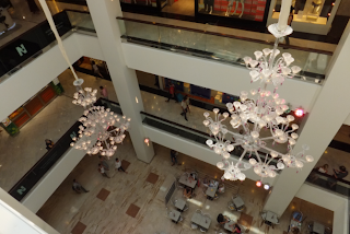 Nice shopping centre, chandeliers
