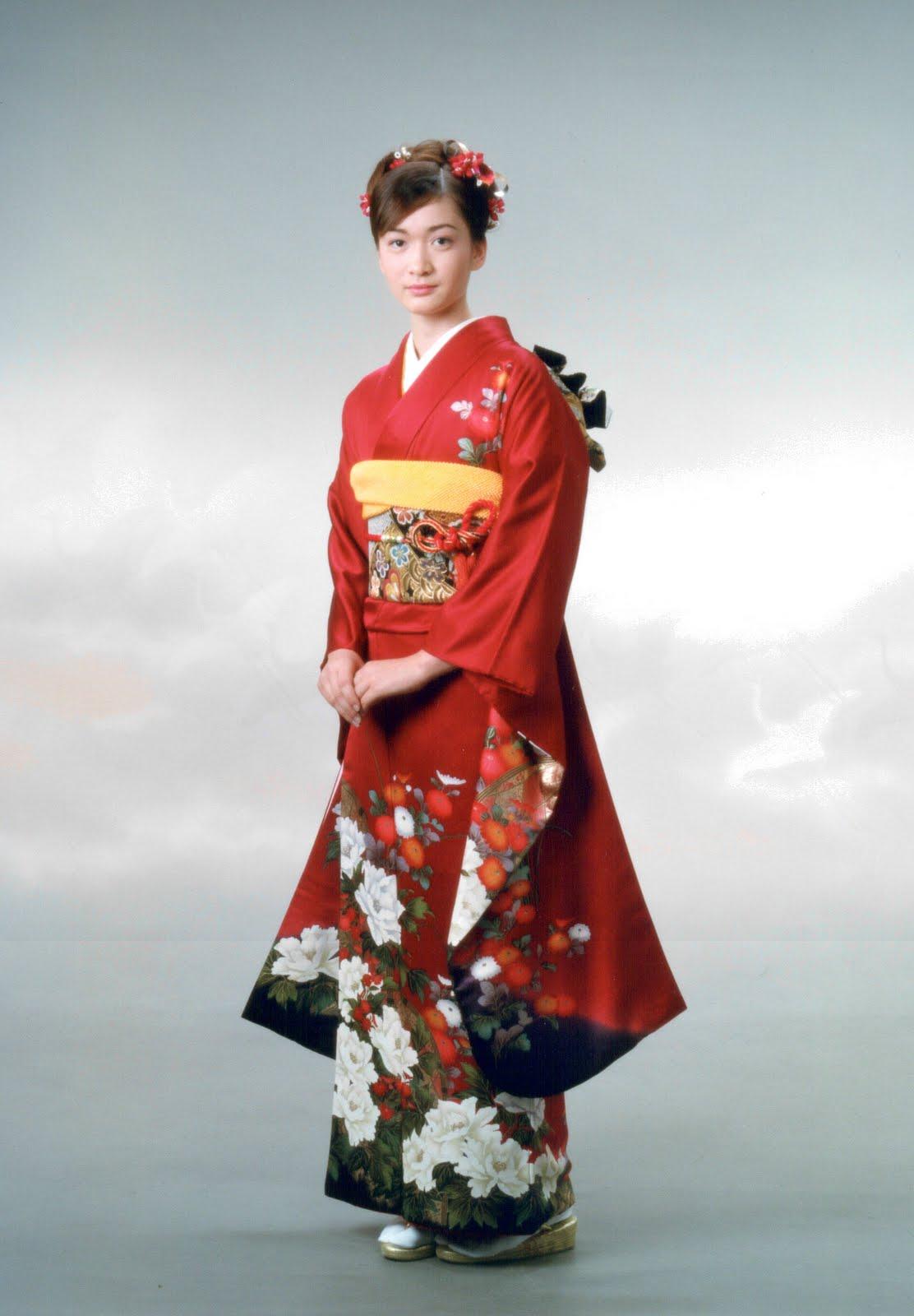 Women Kimono Tsumugi Japan Culture Center