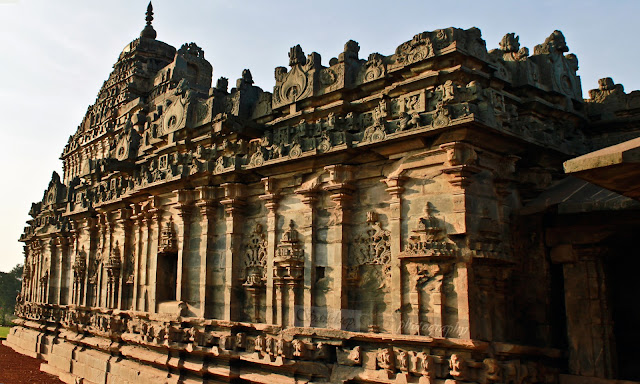 Sideview of the Brahma Jinalaya temple