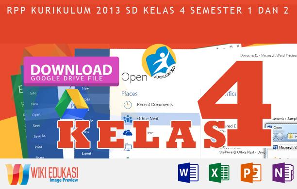 RPP KURIKULUM 2013 SD KELAS 4 SEMESTER 2 - Cita-Citaku Revisi Rekomendasi Terbaru