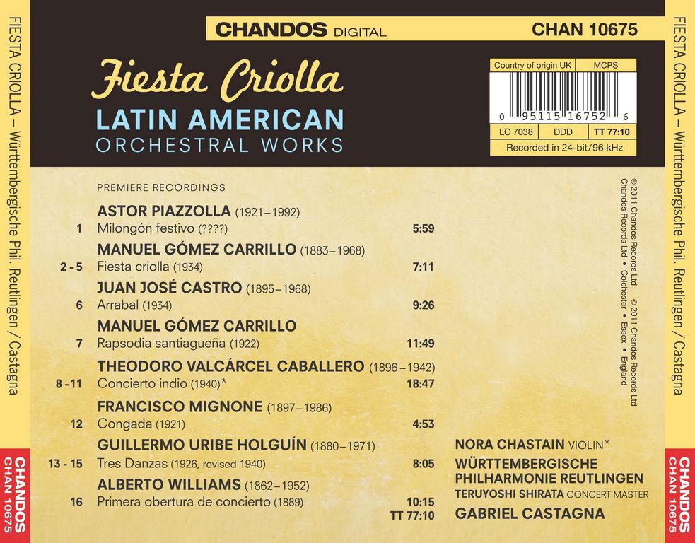 (A) Fiesta Criolla - Latin American Orchestal Works