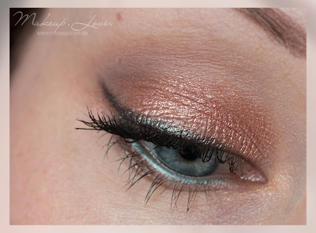 Colourpop La La Partridge AMU EOTD Rosegold green Eyes
