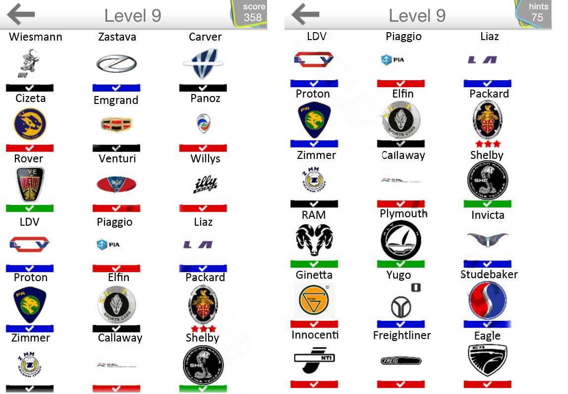 Car Logo Answers