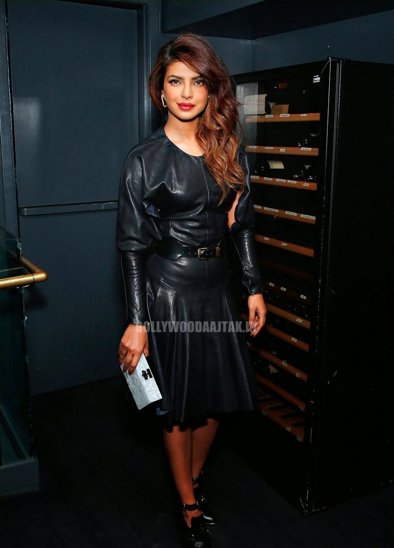 Priyanka Chopra in black dress at Paper Magazine Party ...