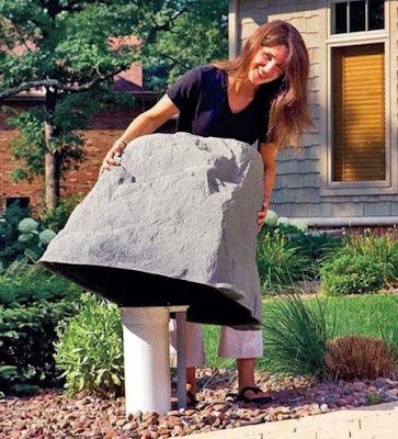 Pipa paralon bisa ditutupi batu palsu yang lebih besar