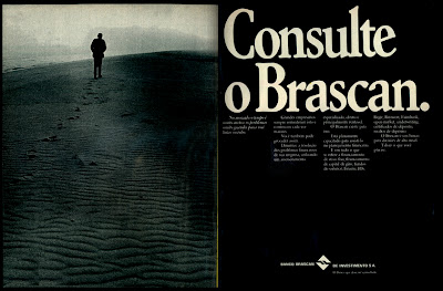 propaganda Banco Brascan de Investimentos - 1973. os anos 70; propaganda na década de 70; Brazil in the 70s, história anos 70; Oswaldo Hernandez;