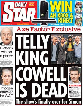 Is Simon Cowell 'dead'? No, of course not.