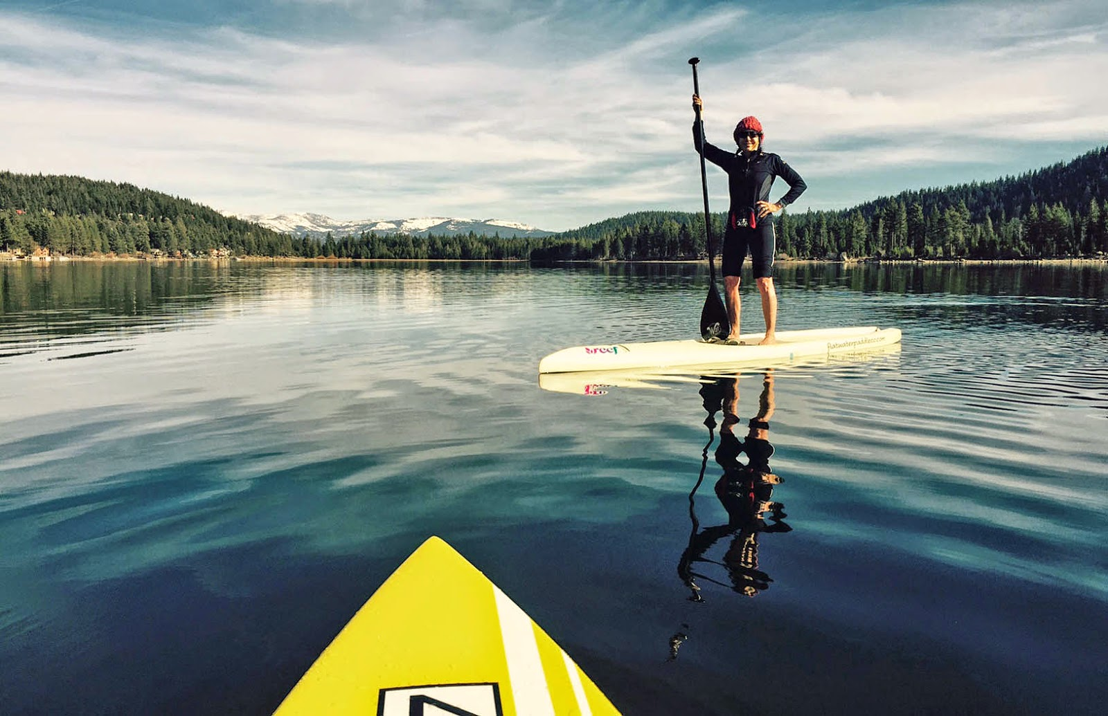 Warm Winter Weather offers Tahoe Paddlers Unique Opportunity