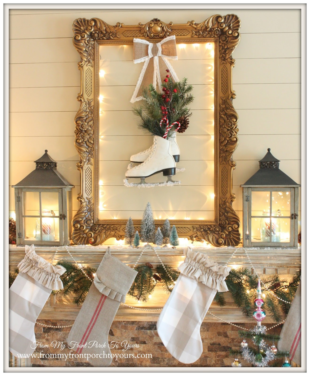 From my front porch to yours christmas mantel 2014 blog hop Decorating for christmas 2014