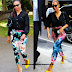 Beyonce's Floral Print Pants