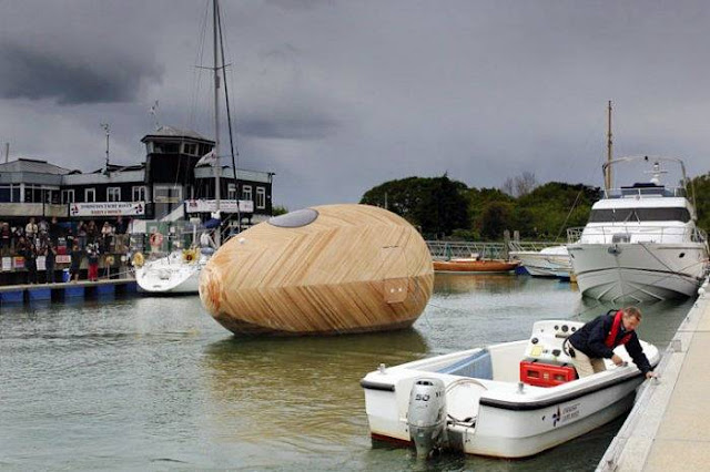 Floating Wooden Exbury Egg House
