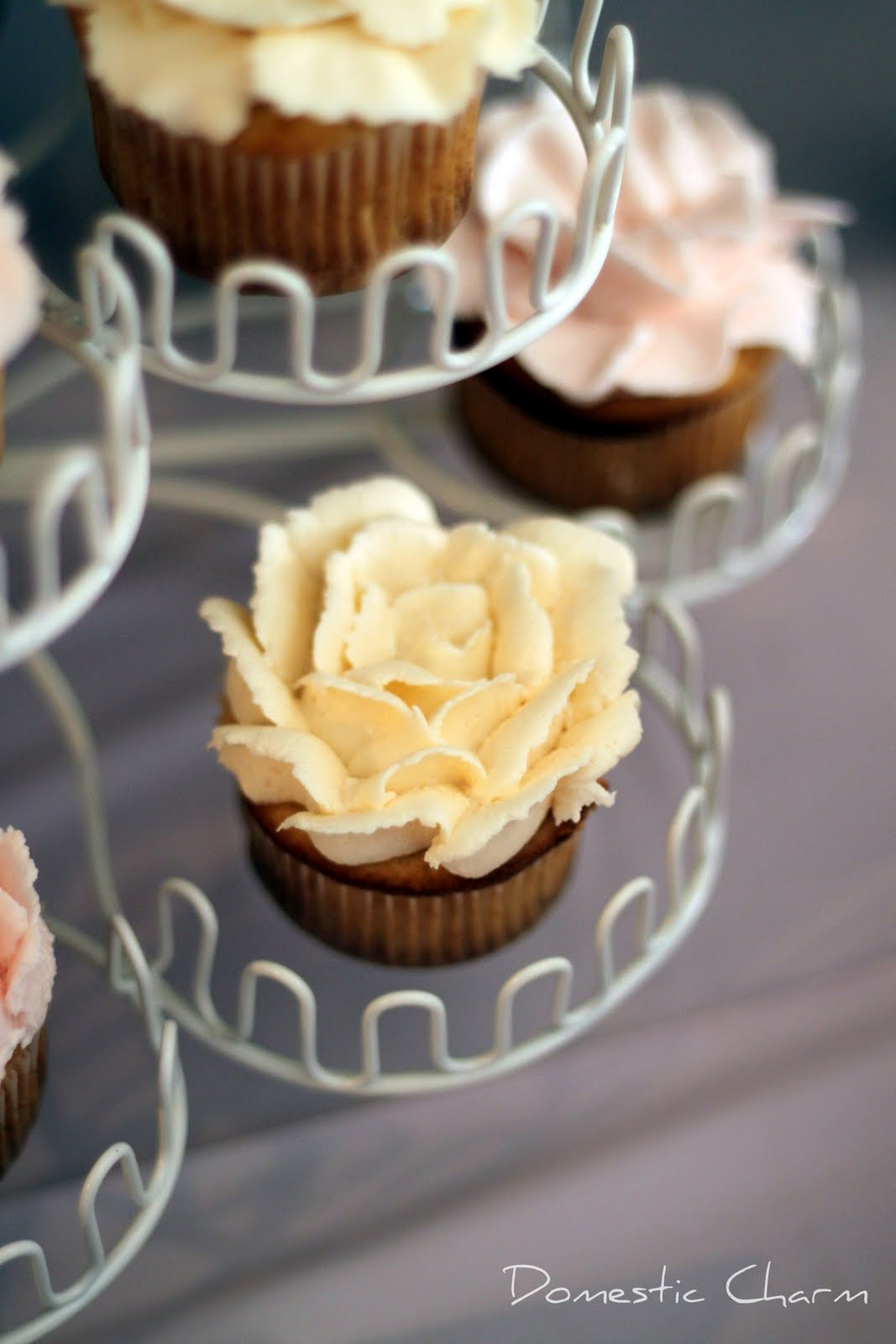 Domestic Charm Buttercream Flower Cupcakes
