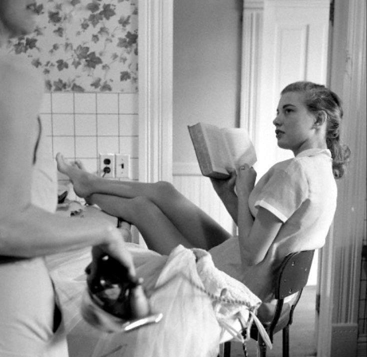 Genevieve Naylor, Girls Ironing and Reading, 1958