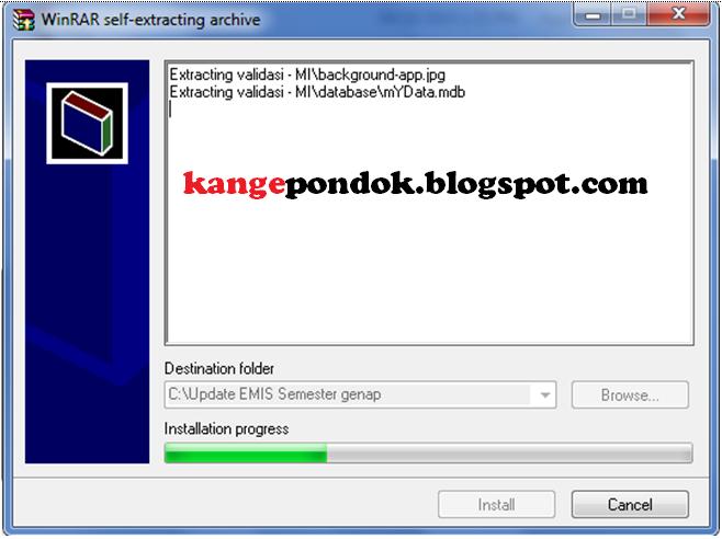Gambar 5. Tampilan proses update instalasi Aplikasi sedang berjala
