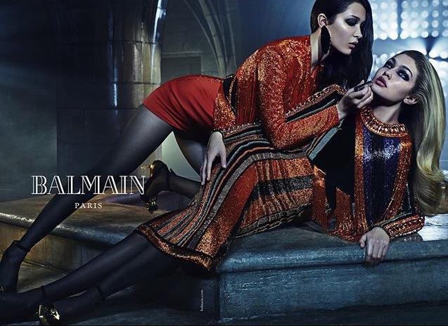 Joan Smalls, Kendall Jenner & Gigi Hadid balmain 2015 fashion