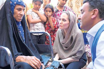 Angelina Jolie lawat kem pelarian Syria di Iraq