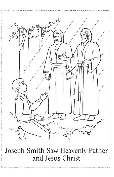 Joseph Smith Coloring Pages Regarding Residence Cool Lds Primary Joseph Smith Coloring Pictures