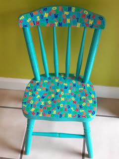 stołek dla dzieci decoupage inspiracja