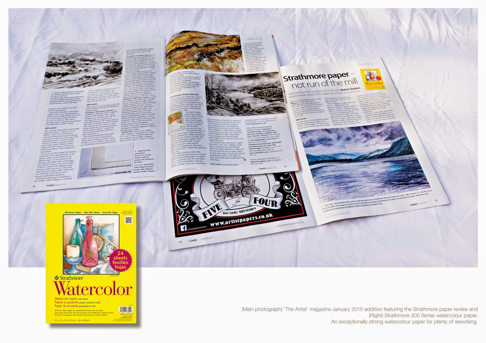 Watercolor artist magazine review -  For A Full Review Of Strathmore Series 300 400 And 500 Papers Amongst Others As Commissioned By The Artist Magazine Which Has Just Been Published