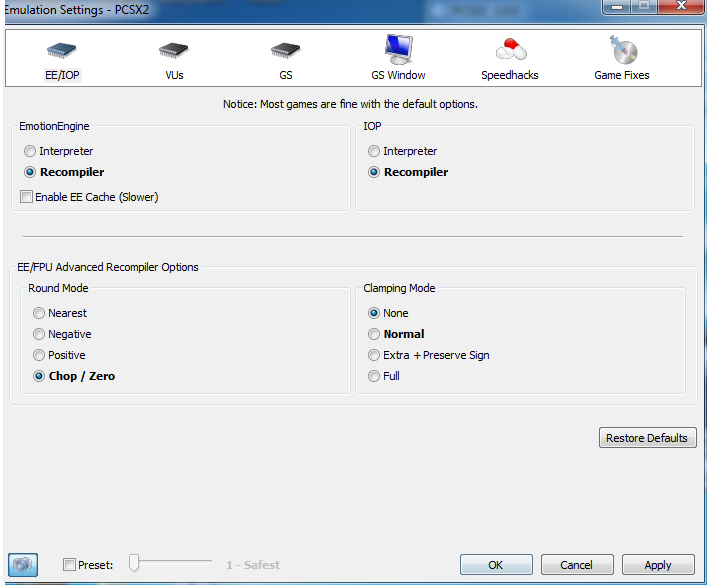 pcsx2 how to use software mode