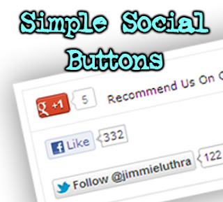social buttons widget blogger