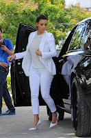 Kim Kardashian getting out of her Rolls Royce