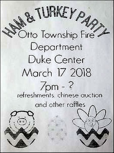 3-17 Ham & Turkey Party, Otto Twp. VFD