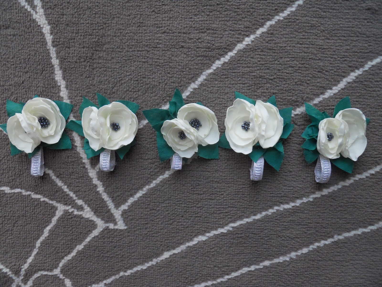 fabric flower wrist corsage