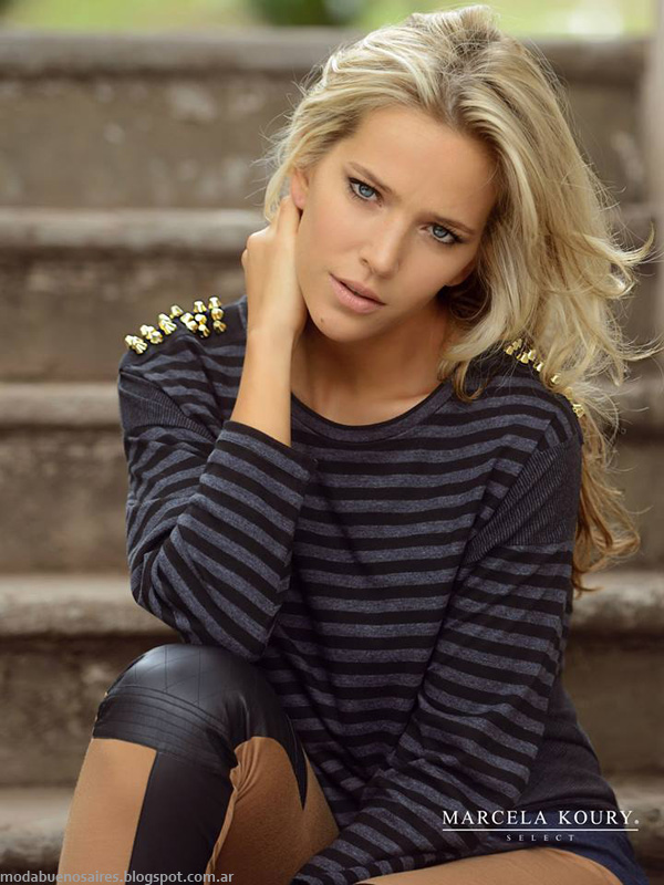 Moda invierno 2014 - Marcela Koury Select remeras invierno 2014.
