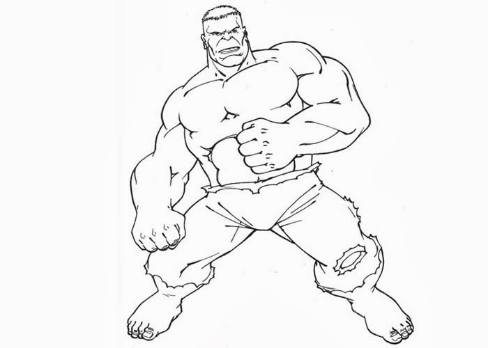 free hulk coloring pages - photo#36