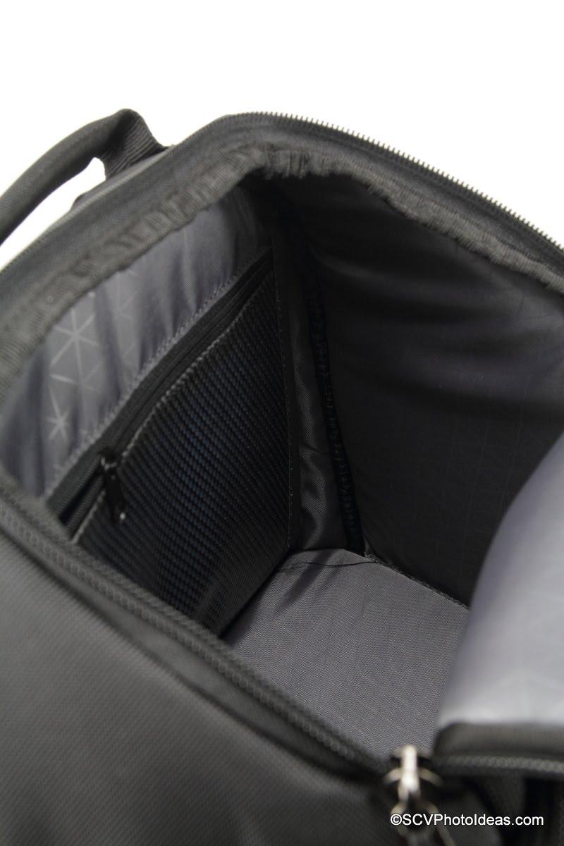 Case Logic DSB-103 top compartment depth view