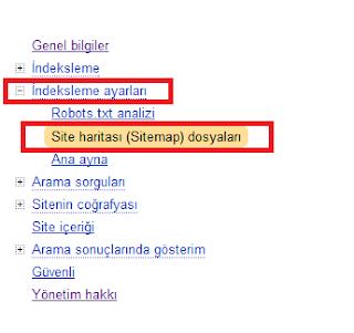 Yandex Sitemap Ekleme Paneli