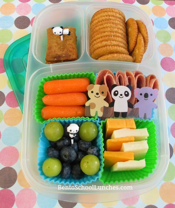 DIY lunchables in Easylunchboxes, bento school lunches