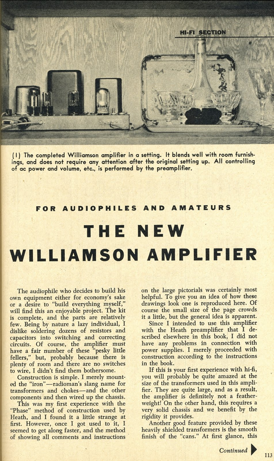 Retro Vintage Modern Hi Fi For Audiophiles And Amatuers The New Original Williamson Hifi Amplifier Schematic As Published In