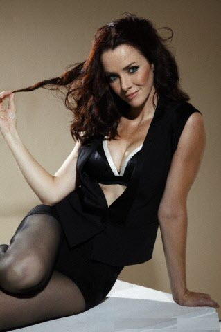 Annie Wersching Cleavage Fhm Outtakes