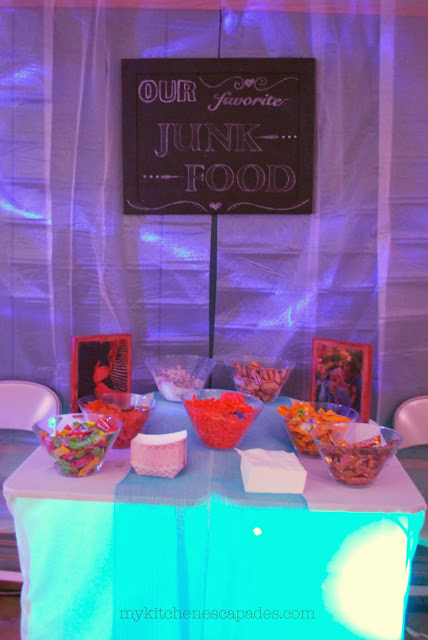 junk food station or bar at a wedding or party