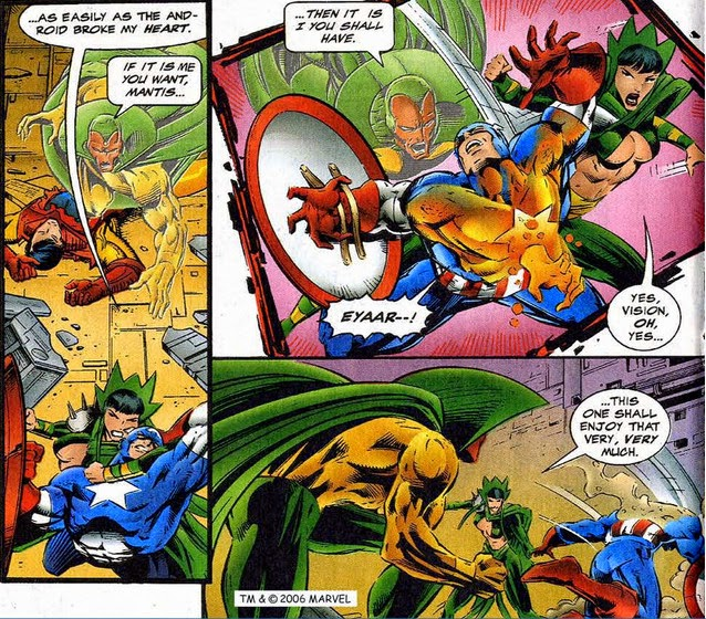 Avengers 395 Vision Mantis