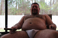Beargarplay005 Hot Hairy Bear Plays with his Cock